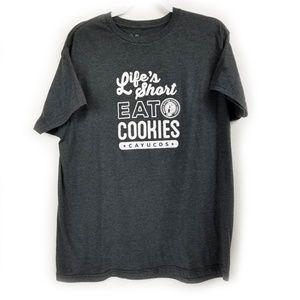 Stylemaster Shirts - Stylemaster T-Shirt Lifes Short Eat Cookies XL
